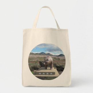 Bear Statue Guarding Los Osos on South Bay Bags