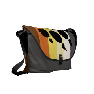 Bear Stripes Messenger Bag