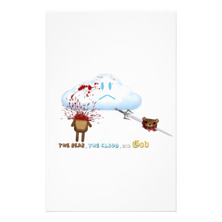 Bear Sword Cloud Stationery Design