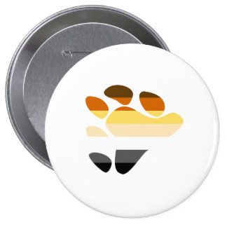 Bear Symbol 10 Cm Round Badge