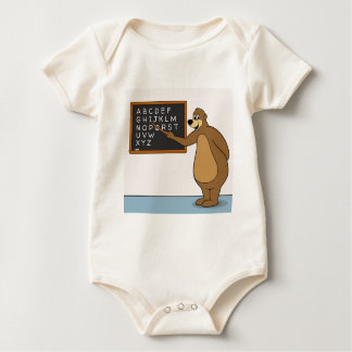 Bear Teacher Alphabet Baby Bodysuit