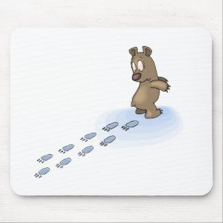 Bear Tracks Mouse Mat