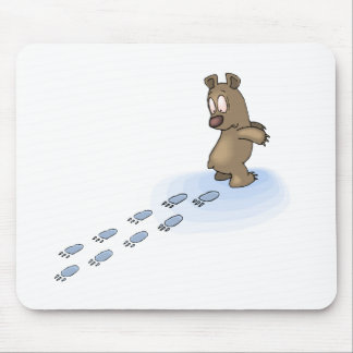 Bear Tracks Mouse Pad