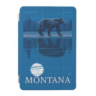Bear Walking in Moonlight Vintage Travel iPad Mini Cover