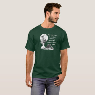 Bear. Waterfall. May your trails be winding... T-Shirt