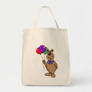 Bear With Balloons Canvas Bags