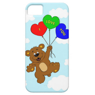 Bear with balloons in love cartoon kids barely there iPhone 5 case