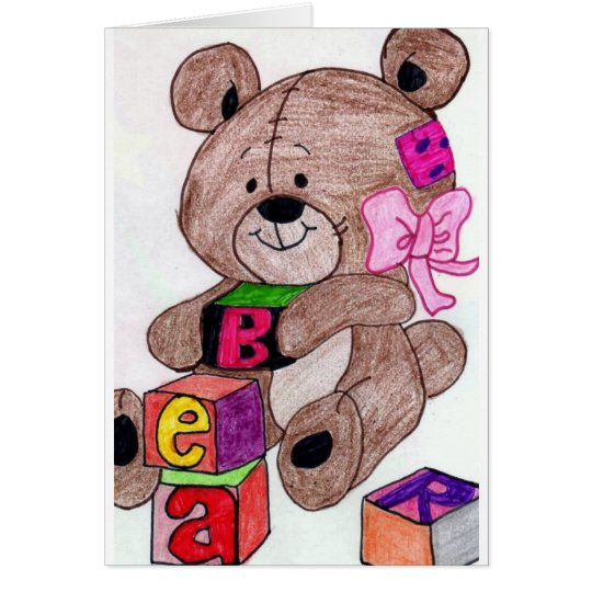 bear with blocks card