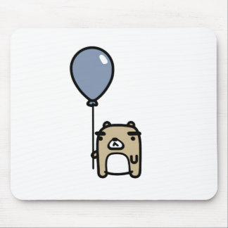 Bear With Blue Balloon Mouse Pad