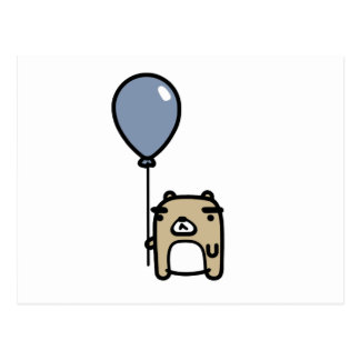 Bear With Blue Balloon Postcard