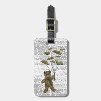 Bear with Book Butterflies Luggage Tag