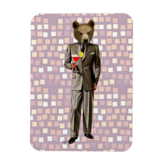 Bear With Cocktail Magnet