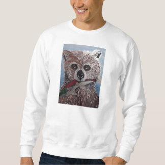 bear with fish sweat shirt