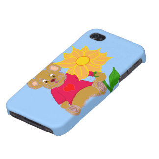 Bear with Flower iPhone Case iPhone 4 Case