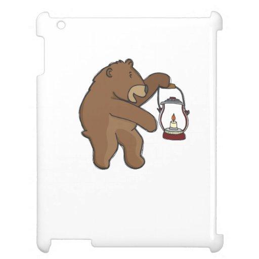 Bear With Lantern iPad Cover