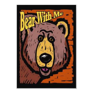 Bear With Me 13 Cm X 18 Cm Invitation Card