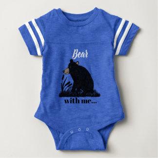 """Bear with me""...Black Bear at Night Baby Bodysuit"