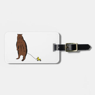 Bear with Rubber Duck Luggage Tag