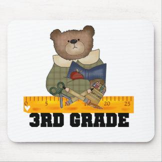 Bear With Ruler 3rd Grade Mouse Mats