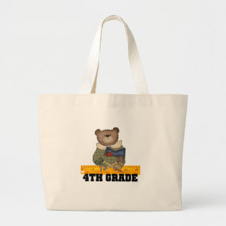 Bear with Ruler 4th Grade Tote Bag