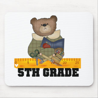 Bear with Ruler 5th Grade Mouse Pads