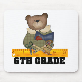Bear with Ruler 6th Grade Mouse Pads