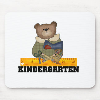 Bear with Ruler Kindergarten Mouse Pad