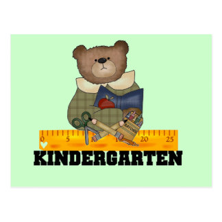 Bear with Ruler Kindergarten Tshirts and Gifts Postcard