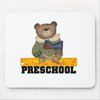 Bear with Ruler Preschool Mouse Pad