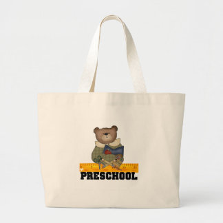 Bear with Ruler Preschool Tshirts and Gifts Jumbo Tote Bag