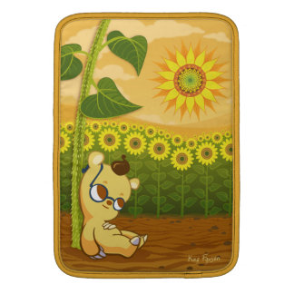 "Bear with Sunflowers MacBook Air Sleeve (13"")"