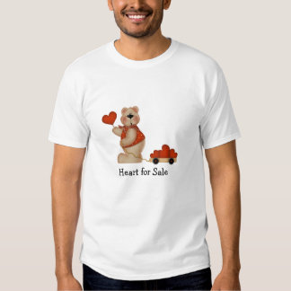 Bear with Wagon of Hearts - Heart for Sale Tee