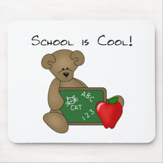 Bear with Writing Board School is Cool Mouse Mat