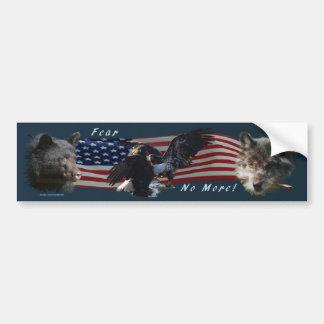 Bear, Wolf, Eagle, US Flag Patriot Bumper Sticker