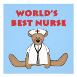 Bear World's Best Nurse T-shirts and Gifts Announcement