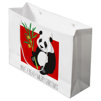 Bear-y Merry Christmas Large Gift Bag