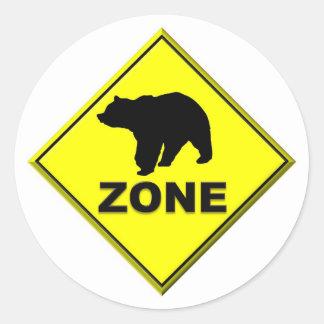 Bear Zone Round Sticker