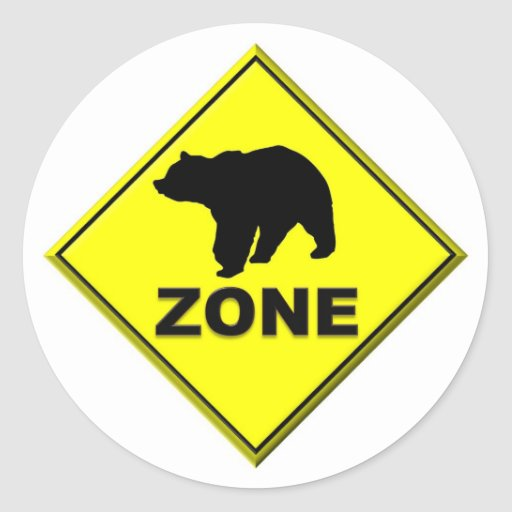 Bear Zone Round Sticker