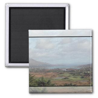 Beara Peninsula, Ireland. Scenic View. Square Magnet