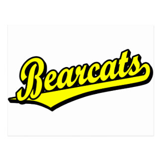Bearcats script logo in yellow postcard