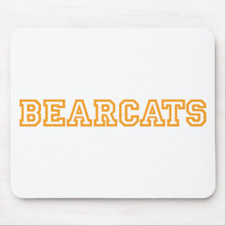 Bearcats square logo in orange mouse pad