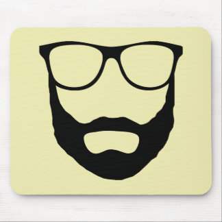 Beard and Glasses Gifts Mouse Pad