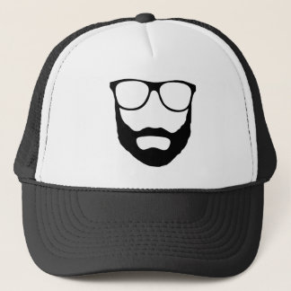 Beard and Glasses Gifts Trucker Hat