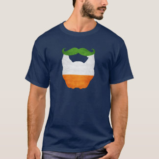 Beard and Mustache Irish Flag T-Shirt