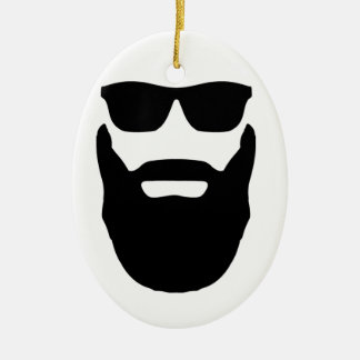 Beard and Sunglasses Christmas Ornament