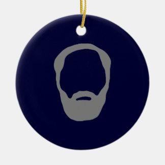 beard christmas ornament