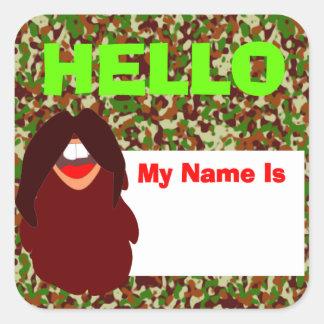 Beard Face Name Tag