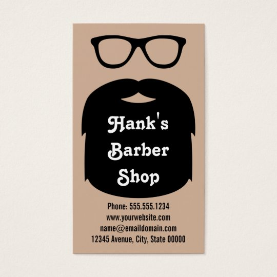 Beard & Glasses Business Card