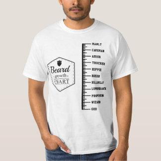 Beard Growth Chart T-Shirt