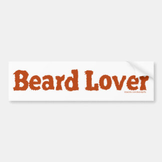 Beard Lover Funny Fuzzy Letters Template Redhead Bumper Sticker